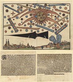 Batalha de ufos em Nuremberg-Alemanha em 1561