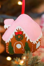 Image result for felt christmas decorations gingerbread house