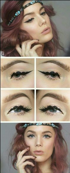 Pretty eyeliner art