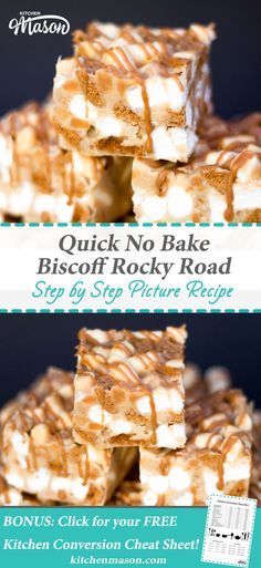 Biscoff Rocky Road | No Bake | Quick | Cookie Butter | Marshmallow