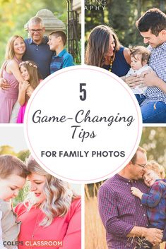We've shared 5 tips to improve your skills in capturing the best family portrait images as a photographer. Creative Portrait Photography, Photography Basics, Photography Tutorials, Photography Photos, Inspiring Photography, Digital Photography, Family Portrait Poses, Portrait Images, Family Posing