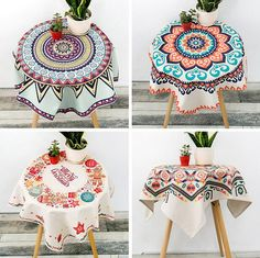 New Arrive ChristmasThick Cotton hemp Tablecloths Square Coffee Table cloth Home…