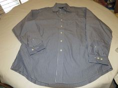 Mens Brooks Brothers 346 long sleeve button shirt Mens L cotton striped EUC @ #BrooksBrothers346Shirt #ButtonFront