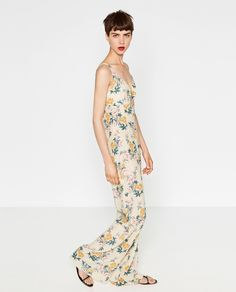 Browse outfit inspiration and products to dress like an off-duty model this summer at @Stylecaster | Printed Jumpsuit, $29.99; at Zara