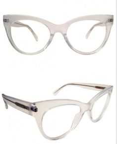 19 Essential Statement-Making Glasses Frames - And this transparent cat eye is equal parts retro and futuristic. Fashion Eye Glasses, Cat Eye Glasses, Cute Glasses, Glasses Frames, Rose Gold Glasses, Computer Glasses, Eye Frames, Prescription Sunglasses, Frames