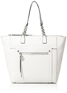Tommy Hilfiger Tessa Tote Top Handle Bag, White, One Size >>> You can get more details by clicking on the image. Tommy Hilfiger Handbags, White Handbag, Womens Purses, Beautiful Bags, Michael Kors Jet Set, Purses And Bags, Reusable Tote Bags, My Style, Leather Handbags
