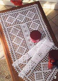 cool Free Crochet Table Runner Patterns Plus Crochet Table Runner Pattern, Crochet Doily Patterns, Crochet Tablecloth, Crochet Motif, Crochet Designs, Filet Crochet, Thread Crochet, Crochet Simple, Crochet Dollies