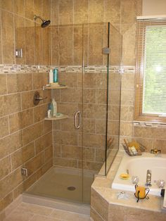 Want a separate shower and tub? Here's a great option from the Onyx Collection!