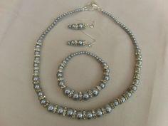 Necklace Bracelet Earrings Wedding Beaded by OswestryJewels