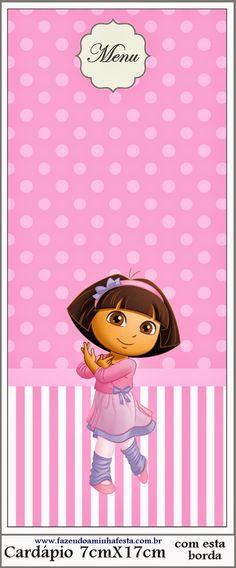 Dora Dancing Ballet: Free Party Printable.