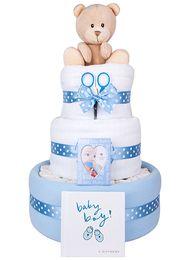 3 Tier Baby Bundle Boy Nappy Cake