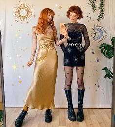 """""""Sun and moon outfits"""" Aesthetic Fashion, Look Fashion, Aesthetic Clothes, Womens Fashion, Sun Aesthetic, Aesthetic Vintage, Halloween Kleidung, Mode Vintage, Halloween Outfits"""