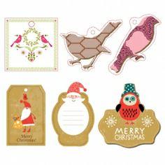 Free printable Christmas gift tags. Just download the PDF and print!