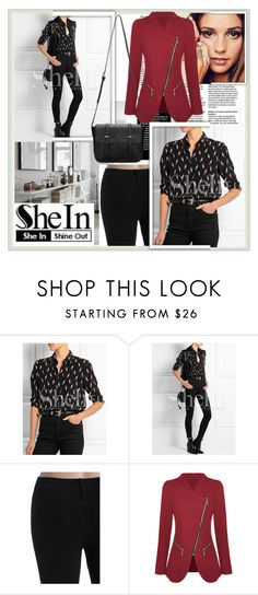 """SHEIN"" by damira-dlxv ❤ liked on Polyvore featuring Amorium, women's clothing, women, female, woman, misses and juniors"