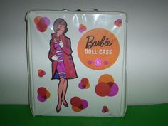 Vintage-1958-White-MOD-Dots-Barbie-Single-Doll-Case-Fashion-Shiner-American-Girl