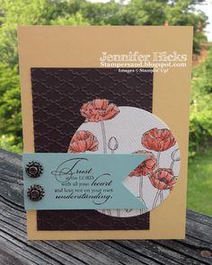 Stamper& blog Pleasant Poppies & Trust God stamps
