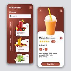 Android App Design, App Ui Design, Mobile App Design, Drink App, Minimalist Web Design, App Design Inspiration, Design Graphique, App Development, Wireframe