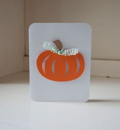 Pumpkin Baby Shower Invitations Orange and Green Gingham Thank You Notes Fall Themed by CardinalBoutique on Etsy