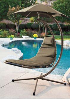 It's a floating hammock