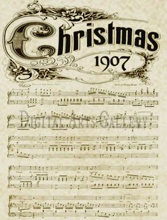 8 Best Images of Old Christmas Sheet Music Printables - Printable Vintage Christmas Sheet Music, Printable Vintage Christmas Music and Free Printable Vintage Christmas Sheet Music Christmas Countdown, Noel Christmas, Christmas Images, Christmas Projects, All Things Christmas, Winter Christmas, Holiday Crafts, Vintage Christmas, Christmas Ornament