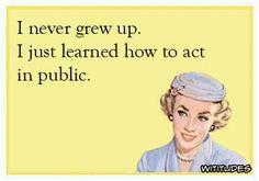 True ...