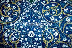 ストックフォト : tiled background, oriental ornaments from Isfahan Mosque, Iran