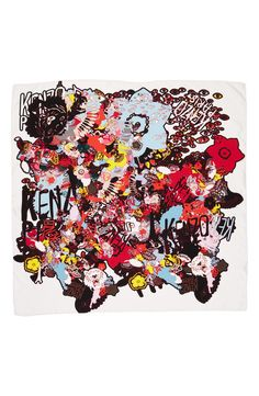 Free shipping and returns on KENZO Graphic Silk Scarf at Nordstrom.com. Vibrant, graffiti-inspired patterns enhance the signature streetwise style of a square scarf woven from pure Italian silk.