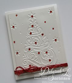 """I have another quick and easy design that is   also easy to mail for today's design.     I used  Darice's embossing folder called """"Ch..."""