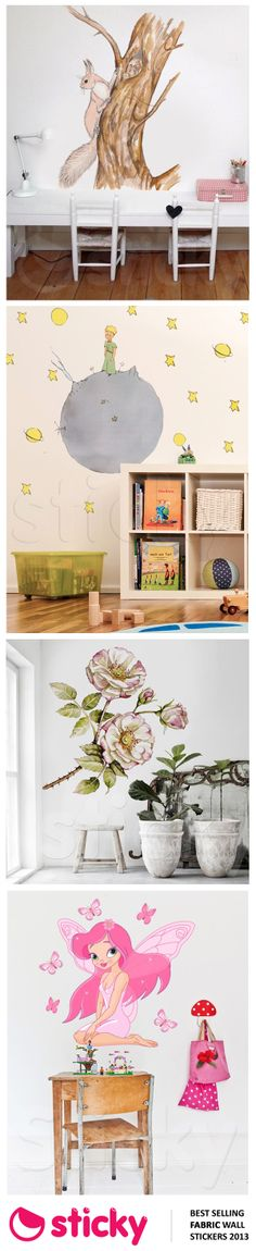 STICKY - Our most popular FABRIC wall stickers for 2013 based on sales!