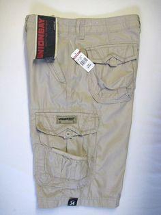 Unionbay Men's Cargo Shorts 34 Khaki Beige NEW #Unionbay #CargoShorts