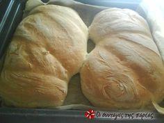 Σπιτικό ψωμί τσιαπάτα #sintagespareas Greek Bread, Greek Cake, Bread Rolls, Biscuits, Recipies, Food Porn, Brunch, Food And Drink, Pizza