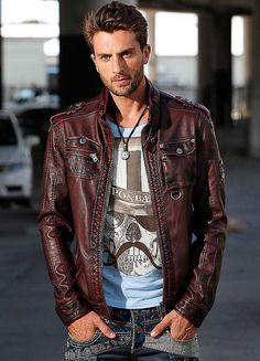 Cipo & Baxx Faux Leather Jacket
