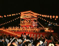 Obon festival- Buddhist custom to honor the spirits of one's ancestors.