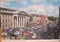 Irish Postcard DUBLIN Ireland General Post Office GPO ca 1970 John Hinde 2/28 General Post Office, 4x6 Postcard, Butlins, West Yellowstone, Republic Of Ireland, Old Postcards, Dublin Ireland, Belfast, Northern Ireland