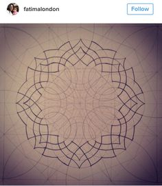 Thank you Abdelhalim Ghodbane for posting the analysis for this pattern… Islamic Art Pattern, Arabic Pattern, Geometry Pattern, Geometric Drawing, Geometric Shapes, Pattern Drawing, Pattern Art, Arabesque, Compass Art