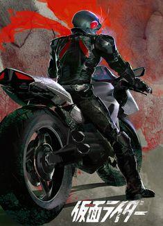 Kamen Rider – fan art by Chen Guan Yu Combattler V, Japanese Show, Robot Cartoon, Guan Yu, Japanese Superheroes, Kamen Rider Series, Pop Culture References, Super Robot, Power Rangers