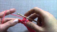 crochet zig zag puff stitch - YouTube