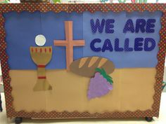 First Communion bulletin board