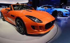 An orange Jaguar (an F-Type V8) with black wheels?   [Photo: Kevork Djansezian/Getty Images]