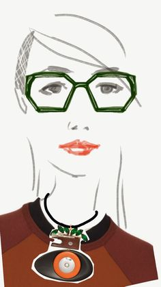 Marni glasses illustration