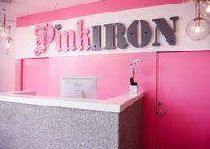 pink iron. gym