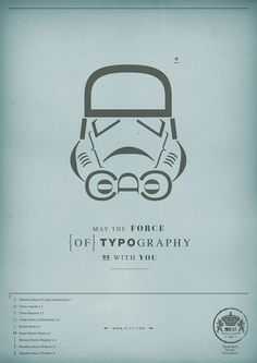 may the force be with you...the force of typography!