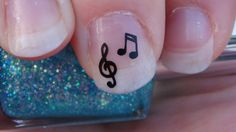 MUSIC NOTES Nail Art Decals 2 Designs Set of 20 by TrinityNails, $1.99
