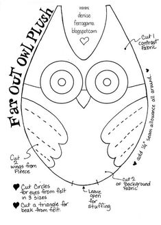 Pattern/ template for owl plush by DeniseFerragamo, via Flickr