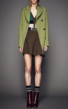 Corded Crepe Wool Coat by Marni for Preorder on Moda Operandi