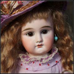 """15.5"""" Sweet Sonneberg Bisque Child Doll"""