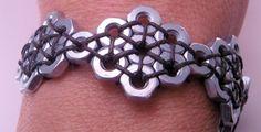 Steampunk Hex dado Hardware 7 pollici braccialetto di luv4sams