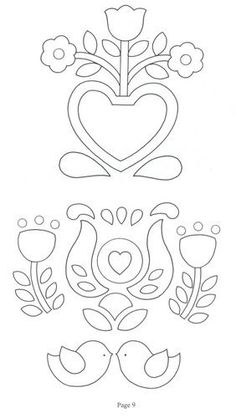 More free embroidery designs Applique Templates, Applique Patterns, Craft Patterns, Applique Designs, Beading Patterns, Quilt Patterns, Embroidery Designs, Wool Applique, Applique Quilts