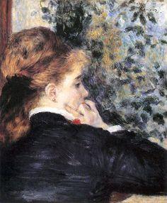 Pensive (La Songeuse) by Pierre-Auguste Renoir • 1875 • oil on canvas • Virginia Museum of Fine Arts, Richmond, USA