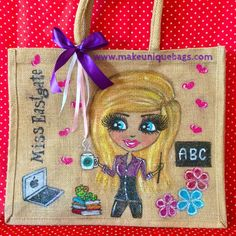 Large Personalised Jute Tote Bags